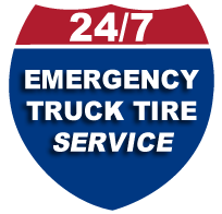 24 hour emergency truck tire service